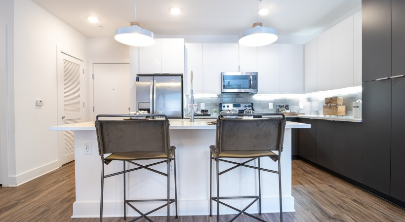 Modern apartment kitchen at our Smyrna apartments for rent