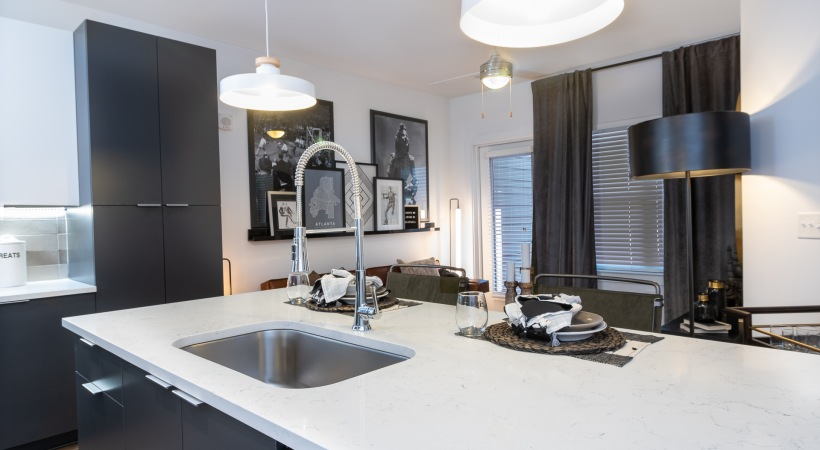 Luxury apartment kitchen at our Vinings apartments