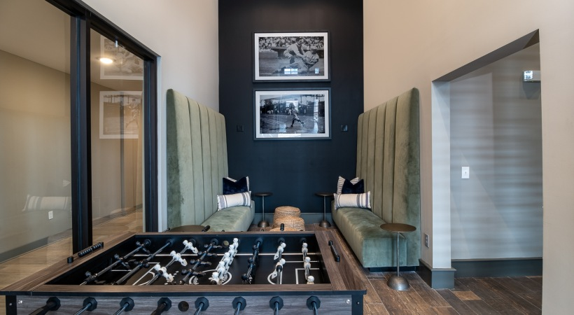 Resident Clubhouse with Foosball Table and HDTVS