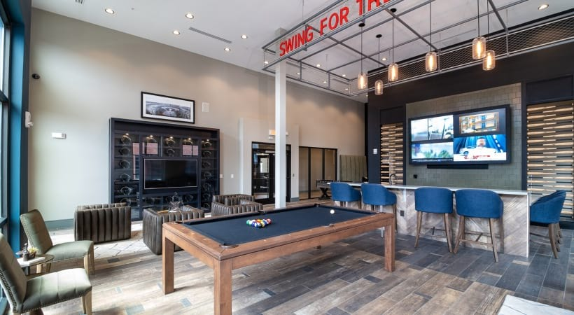 Resident Clubhouse with Pool Table and Billiards