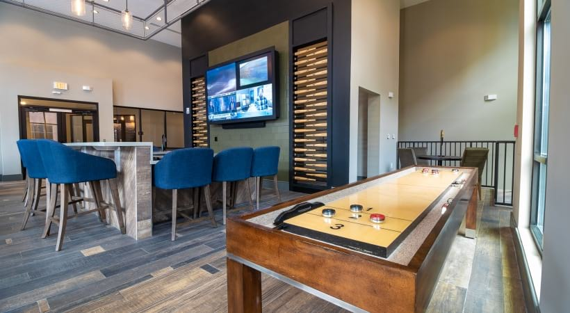 Resident Lounge with Shuffle Board Table