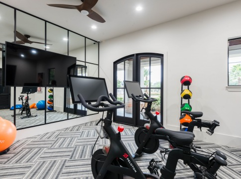 Fitness Center with Peloton Bikes