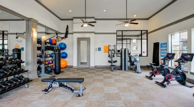 Energy Corridor Houston apartment gym at Cortland Vizcaya
