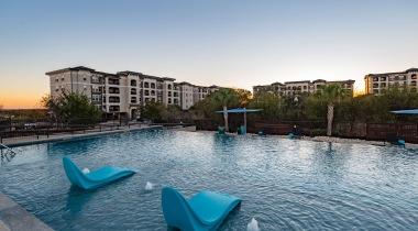 Apartment complex with pool in San Antonio