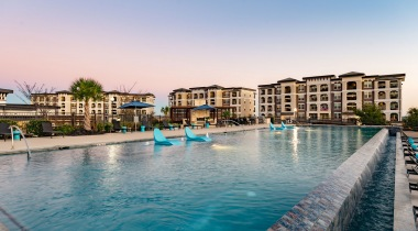 Resort-Style pool at Luxury apartments in San Antonio