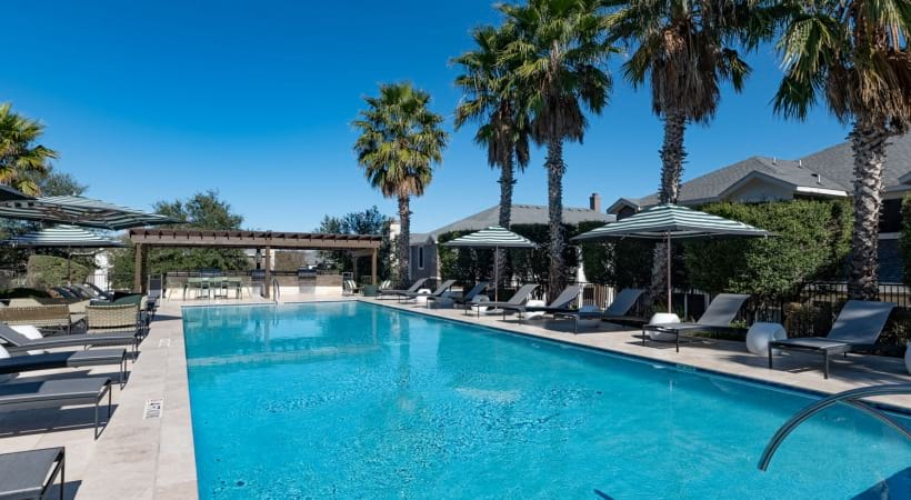 Resort-Style Pool with Sun Deck in Cibolo Canyons