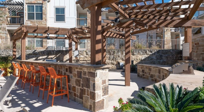Outdoor grill station at our Medical Center apartments in San Antonio, TX