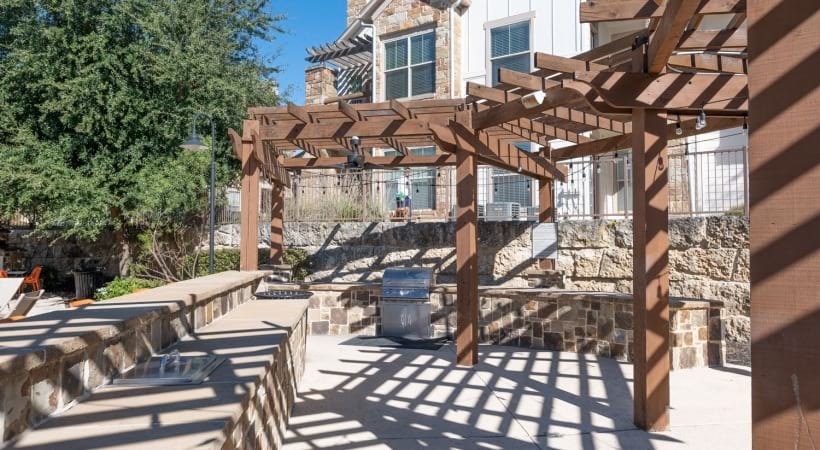 Outdoor grill at our Preserve on Fredericksburg apartments