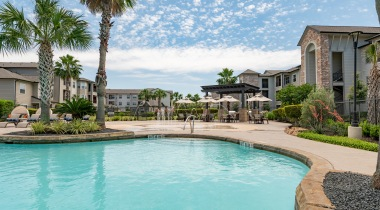 Resort-style apartment pool at Cortland Copperleaf