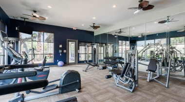 Fitness center at apartments near Richmond, TX