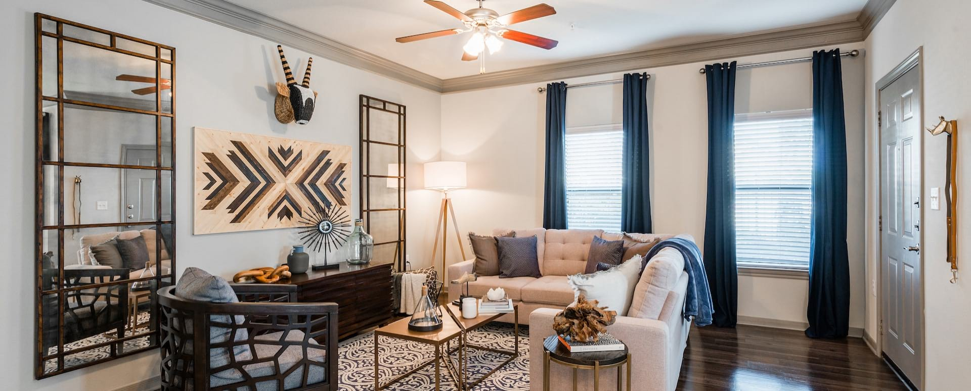 Spacious apartment floor plan at Cortland Sugar Land