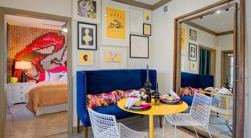 Modern apartment floor plan at Cortland Med Center