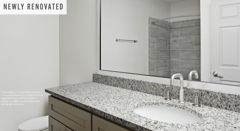 Newly Renovated Bathroom with Granite Countertops*