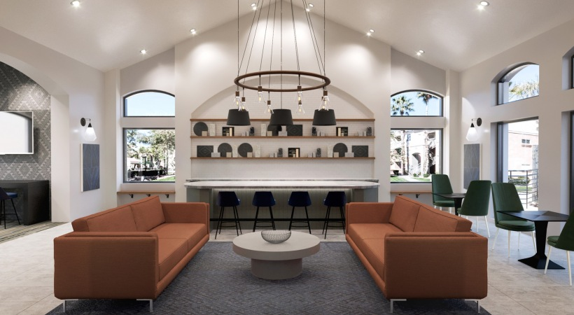 Our Desert Ridge Apartment Clubhouse with Modern Decor