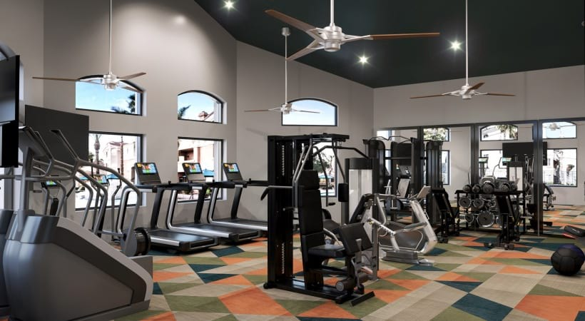 Our Desert Ridge Apartment Gym with Updated Equipment