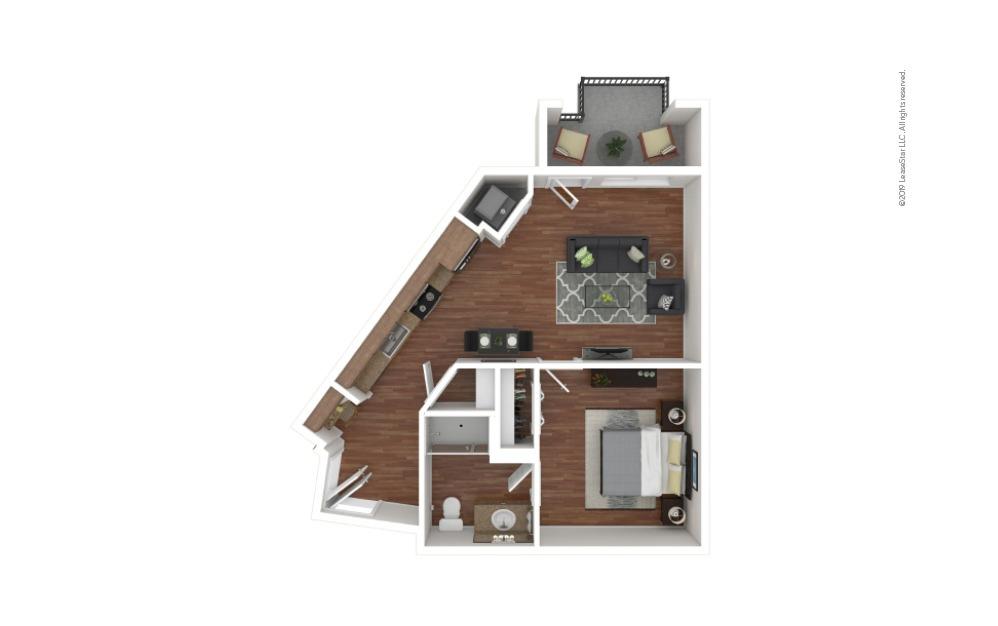 Buchanan 1 bedroom 1 bath 609 square feet
