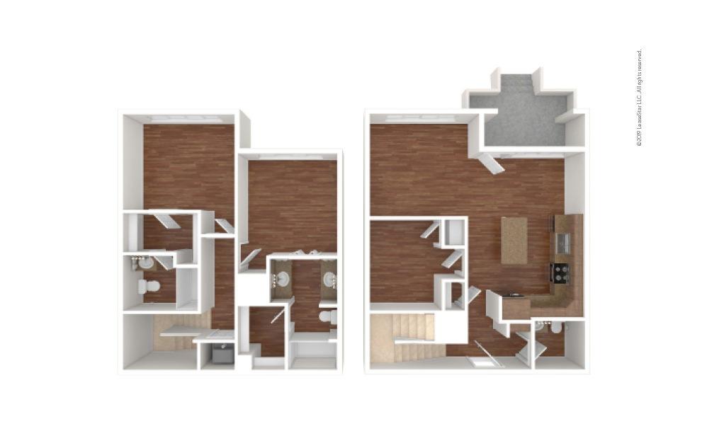 Washington 2 bedroom 2 bath 1480 square feet (1)