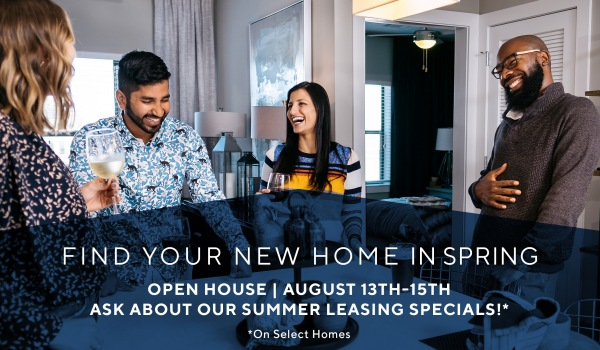 Open House Savings: Up to $500 off rent & $29 app/admin
