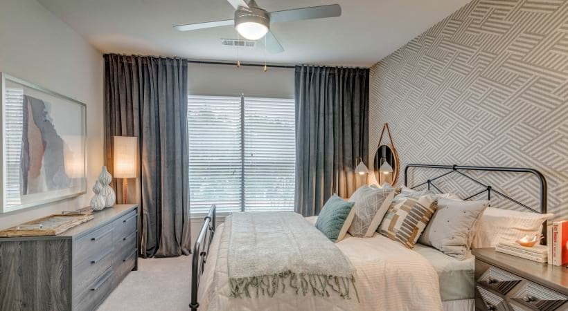 Spacious Bedrooms with Ceiling Fans