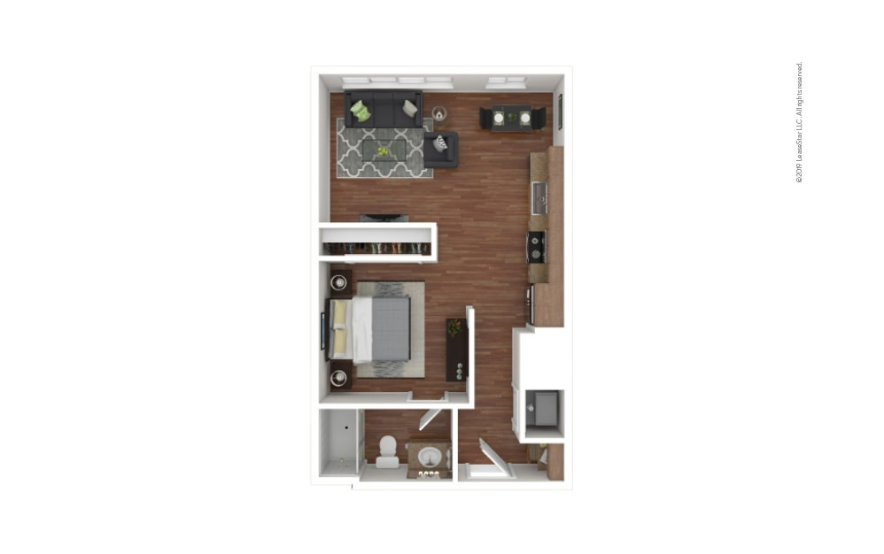 Blackwell Studio 1 bath 550 - 579 square feet