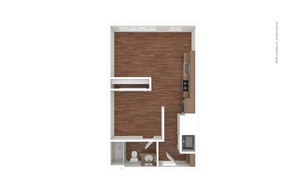 Blackwell Studio 1 bath 550 - 579 square feet (1)