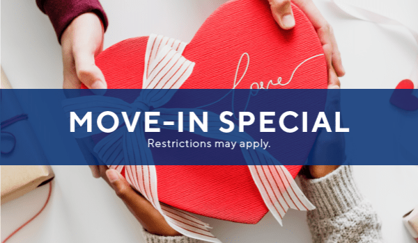 Two weeks free on immediate move-ins.