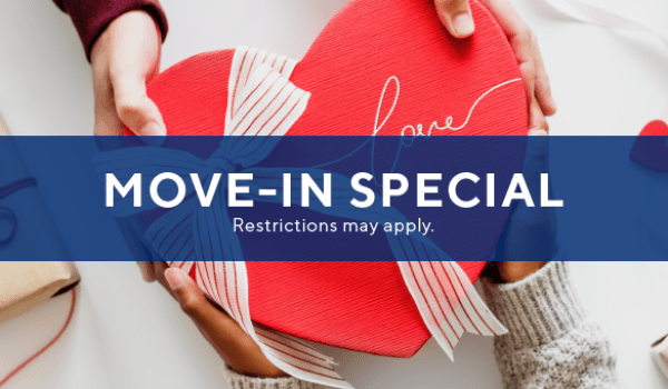 $250 off select immediate move-ins PLUS waived app/admin