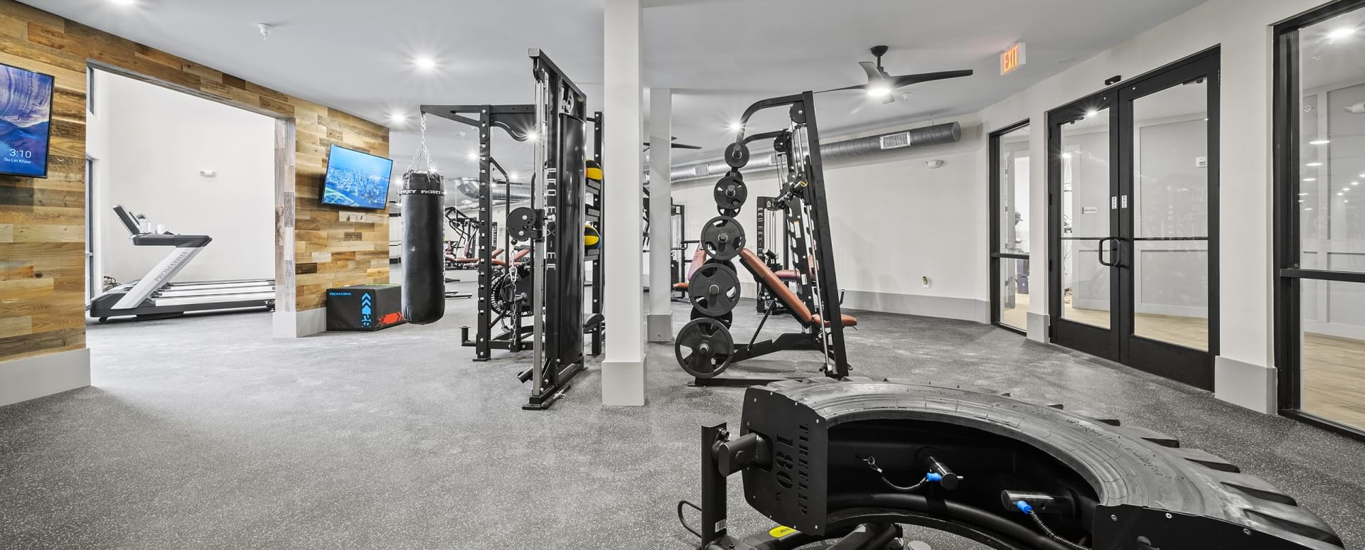 Spacious gym with equipment at our apartments for rent in Stockbridge, GA