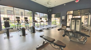 Fitness Center at apartments near Woodland Mall