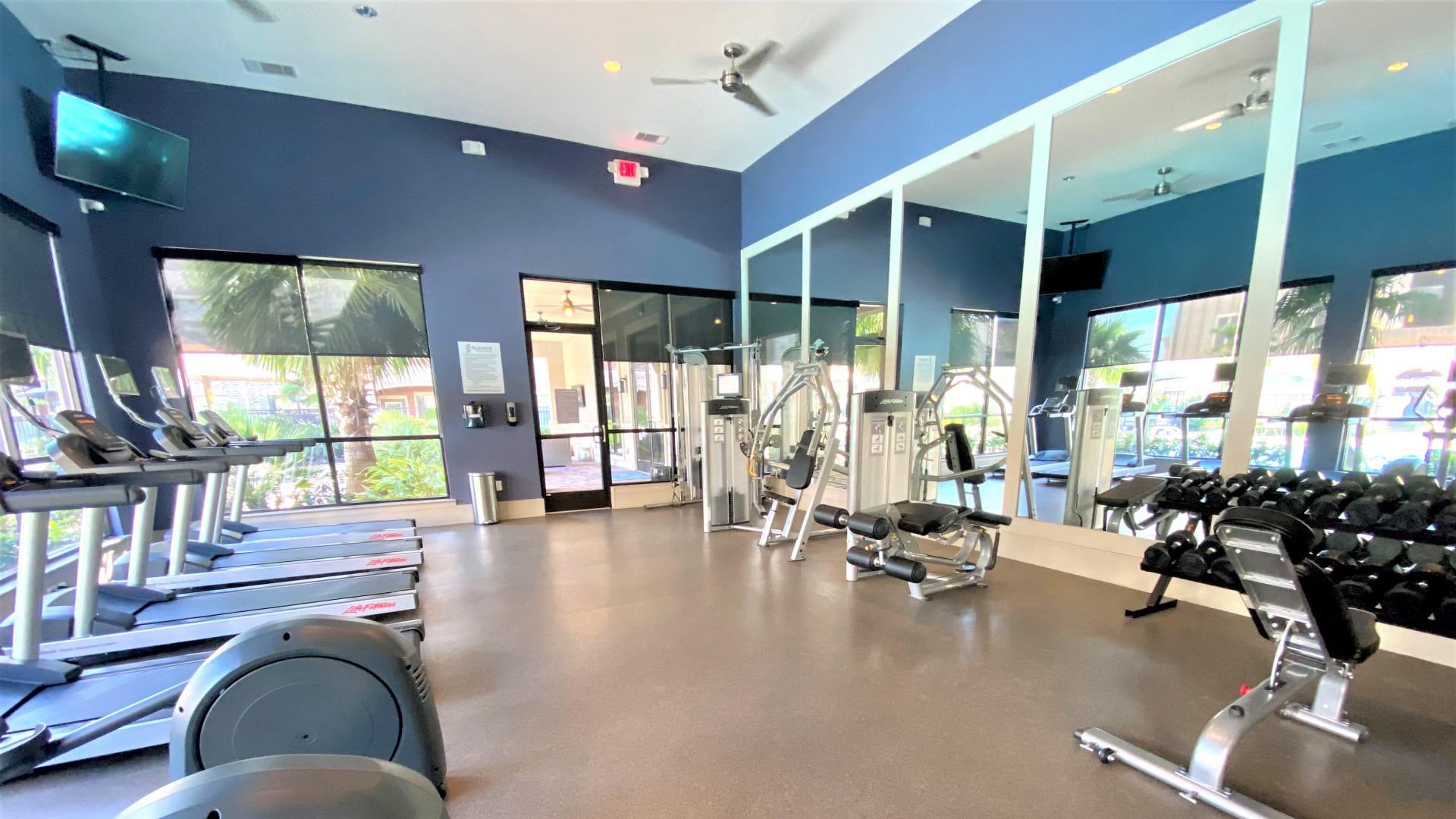 Apartment gym at Cortland Spring Cypress