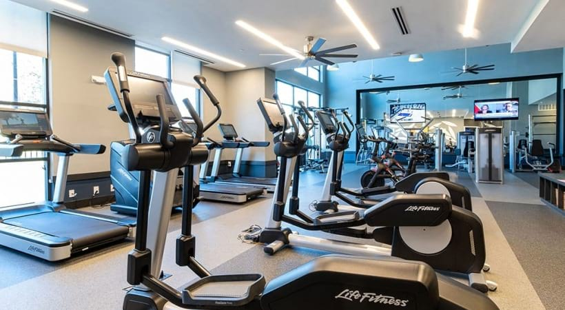 Cardio Machines At Our Brookhaven Apartment Fitness Center