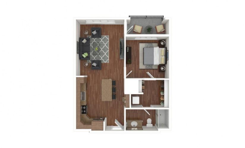 Duke 1 bedroom 1 bath 740 - 823 square feet