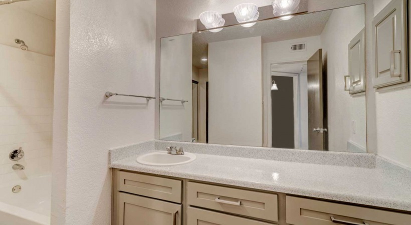 Spacious Apartment Bathroom at Fountain Wood