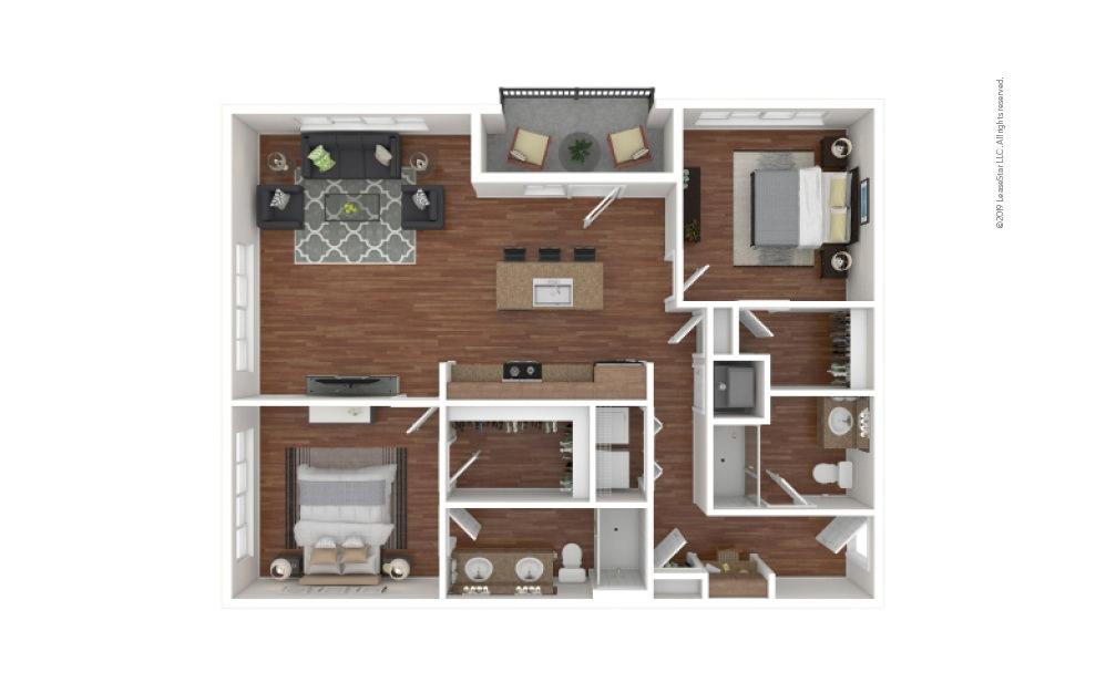 Morris 2 bedroom 2 bath 1174 - 1225 square feet