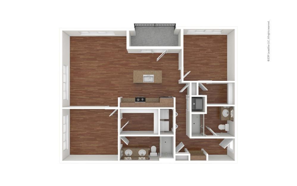 Morris 2 bedroom 2 bath 1174 - 1225 square feet (1)