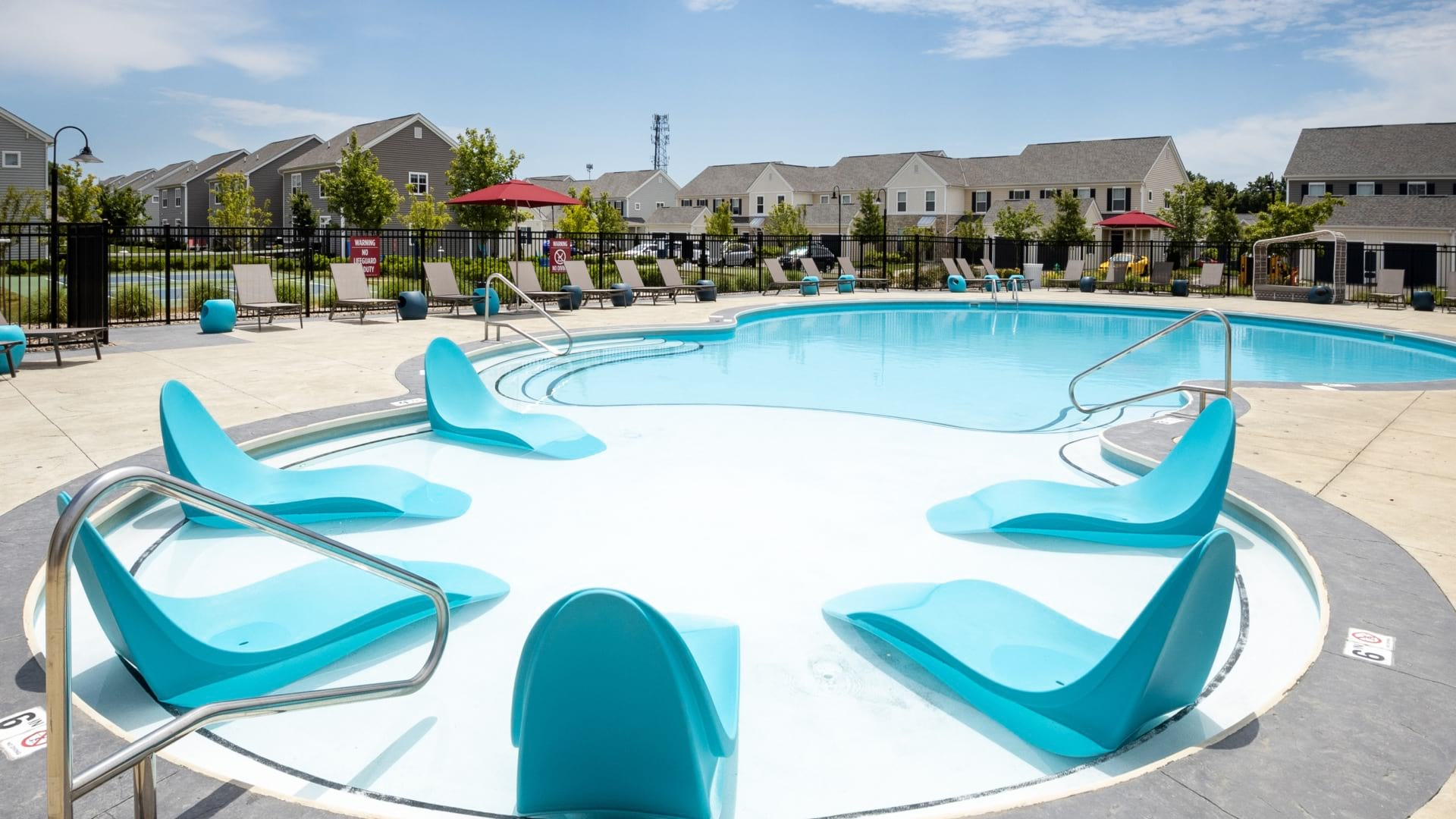 Resort-Style Pool And Lounge Chairs At Our 43065 Apartments in Powell, Ohio