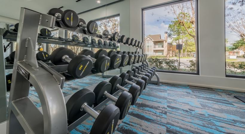 Fitness center at Town Center apartments