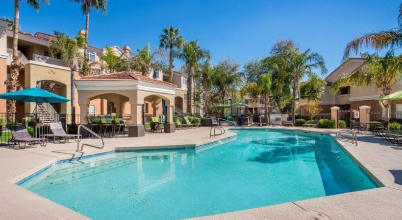 Resort-Style Pool with Sun Deck at Our Apartments Near Desert Ridge