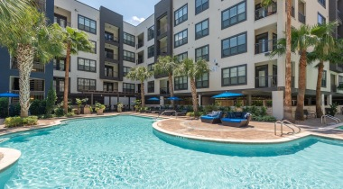 Resort style pool at apartments near Houston