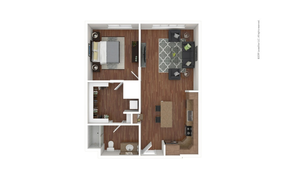 Ginter 1 bedroom 1 bath 793 square feet