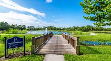 Nature trail at Cortland Hunter's Creek in Kissimmee, FL