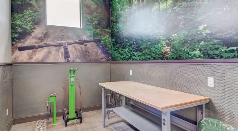 Bike and Ski Repair Room at Cortland at Green Valley Apartments