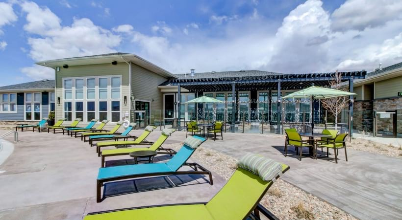 Sun Deck with Lounge Seating at Cortland at Green Valley Apartments
