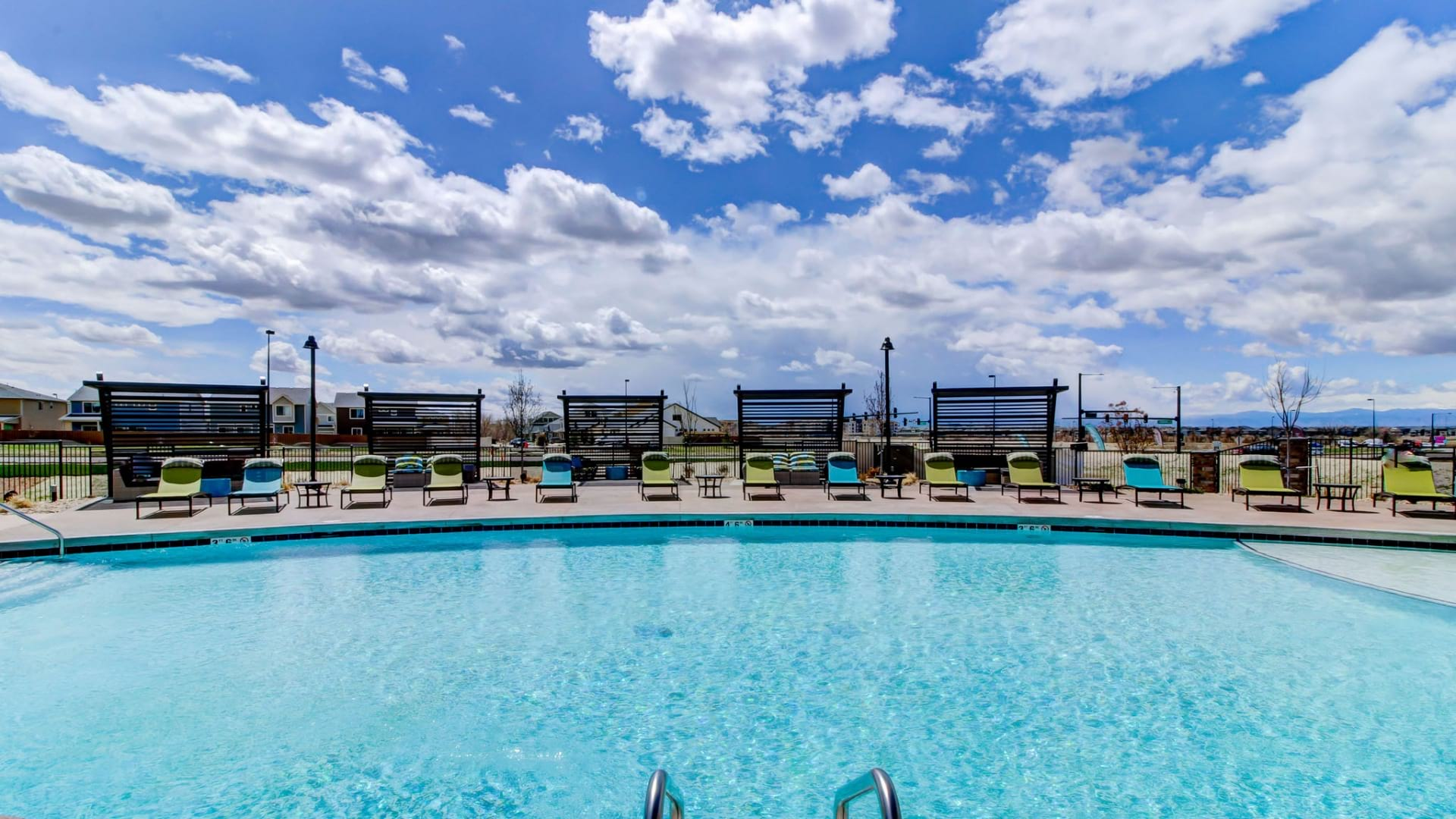 Resort-Style Pool and Heated Spa at Cortland at Green Valley Apartments