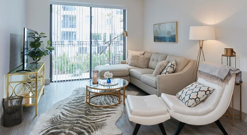 Living Room with Balcony | Deerfield Station