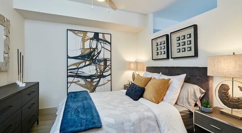 Bedroom with Overhead Fan | Deerfield Station