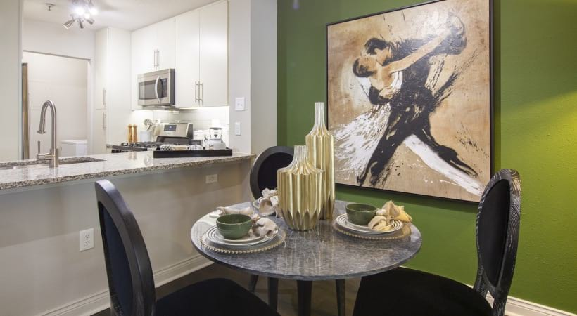 Dining area at apartments for rent in Marietta, GA