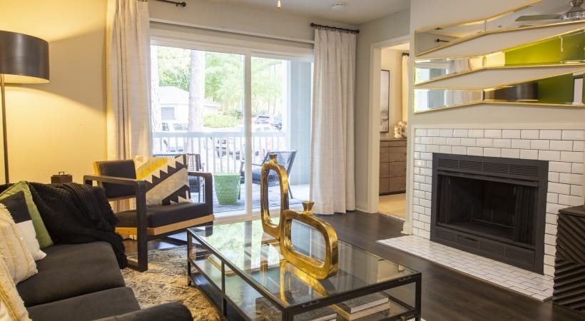 Wood burning fireplaces at apartments for rent in Marietta, GA