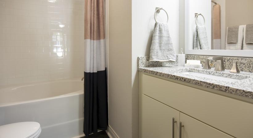 Modern apartment bathroom in Marietta, GA