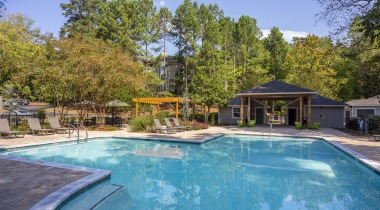 Resort style pool at apartments in Marietta, GA